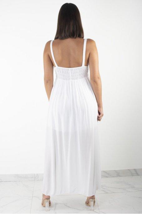 Robe  blanche longue dentelle