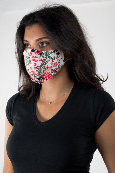 Masque fleurs coloré