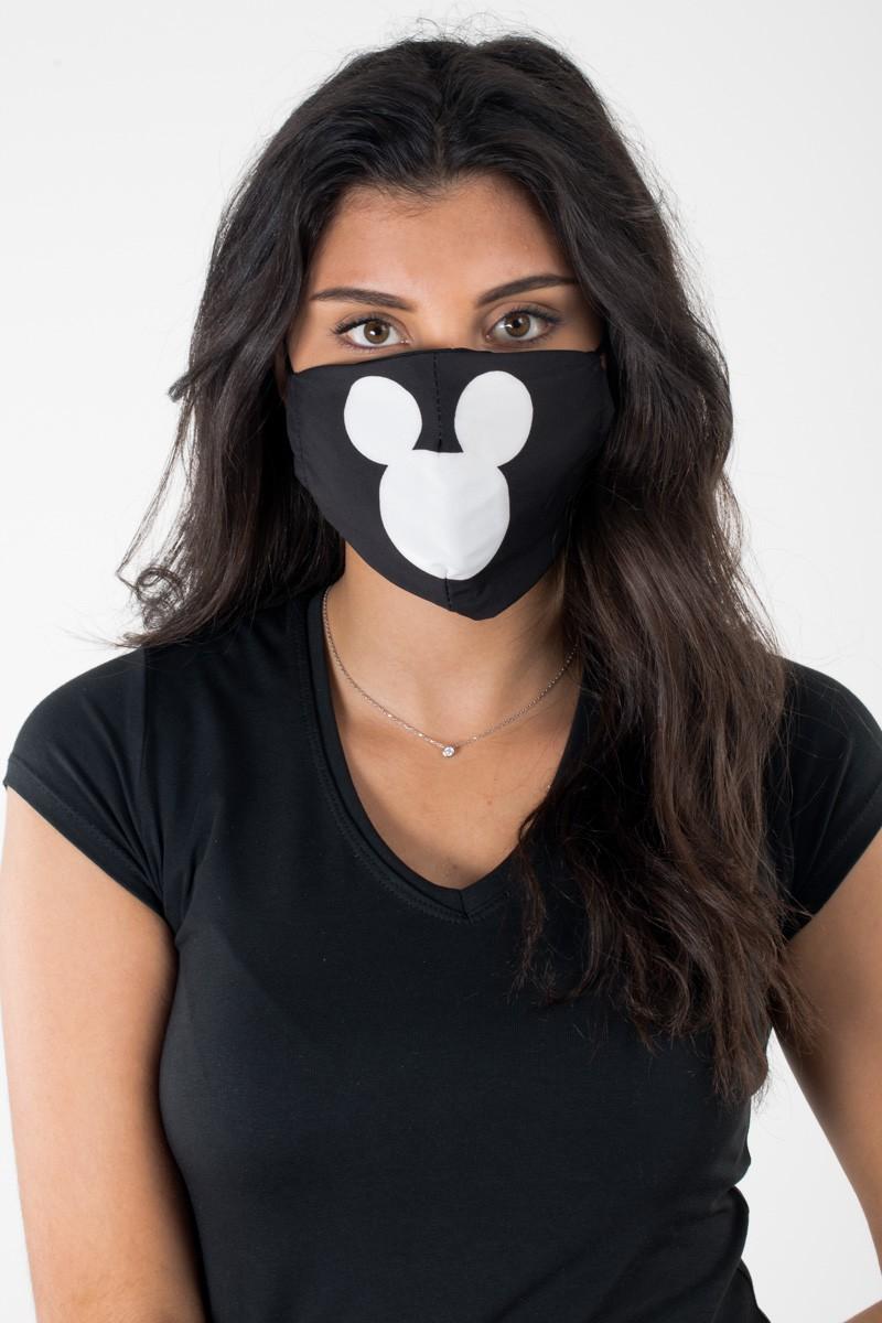 Masque noir logo mickey - Cinelle Boutique, mode femme tendance