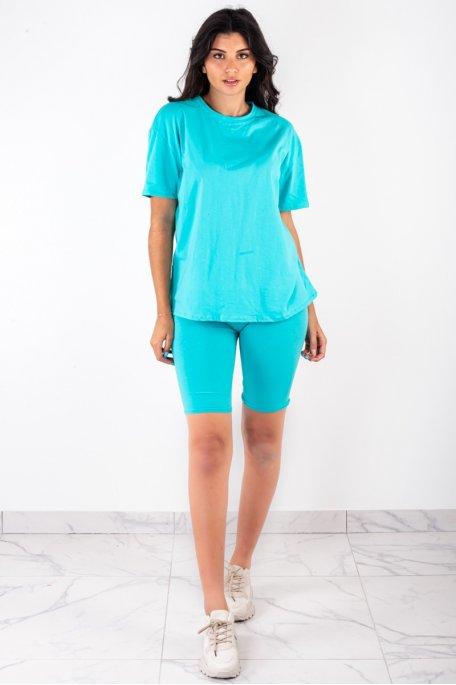 Ensemble turquoise tee-shirt shorty