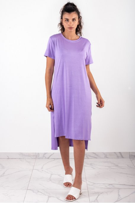 Robe longue oversize violette