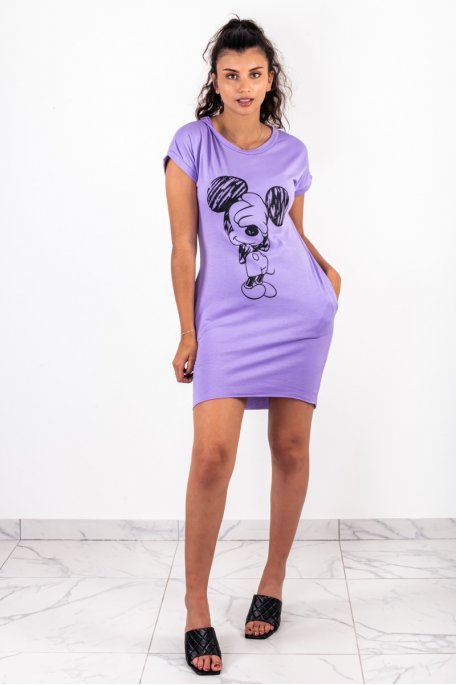Robe tee shirt mickey violet