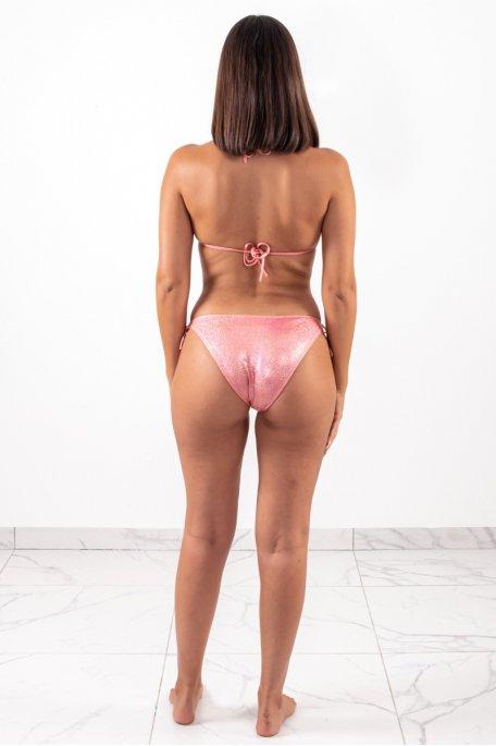Maillot de bain rose glitter