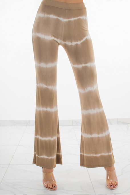 Pantalon fluide dégradé camel