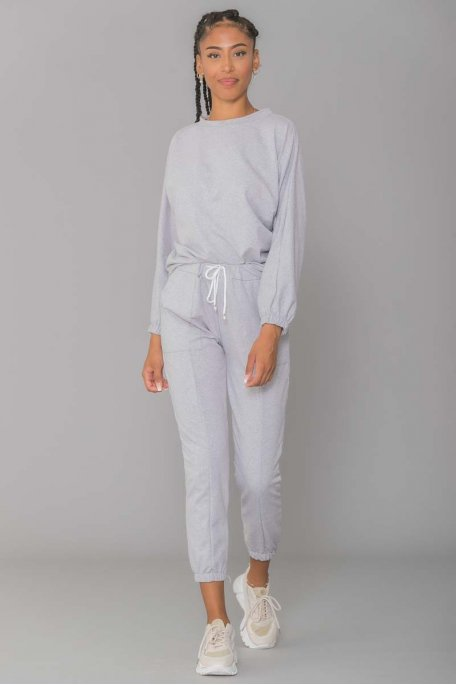 Ensemble jogging gris chiné