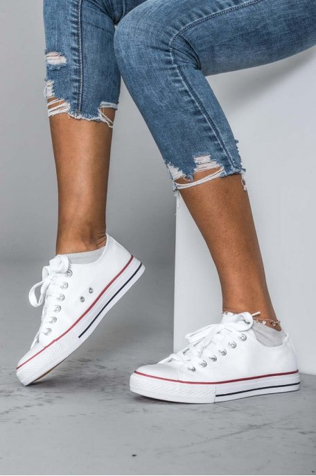 Baskets style converse blanc