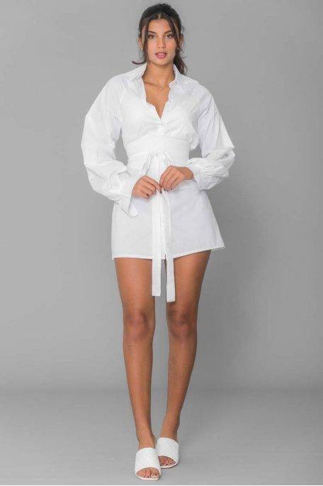 Chemise ceinture blanc