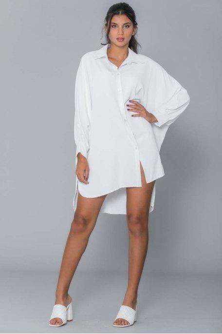 Chemise longue blanche