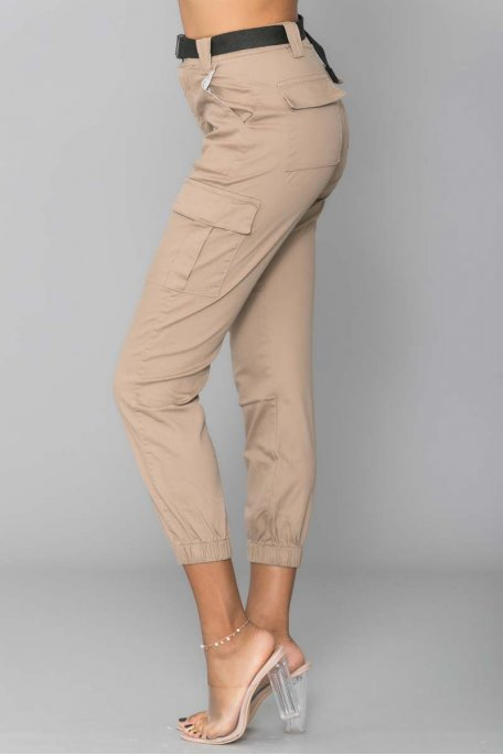 Pantalon cargo taupe