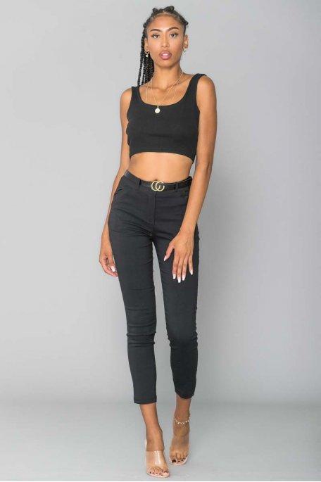 Pantalon ceinture noir