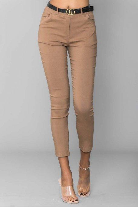 Pantalon ceinture camel