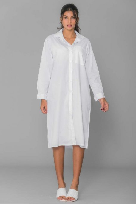 Robe chemise longue blanche