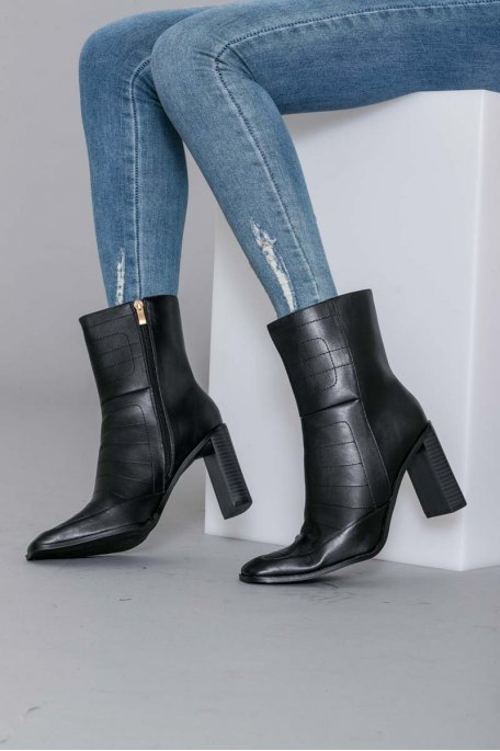 Bottines à talon noire
