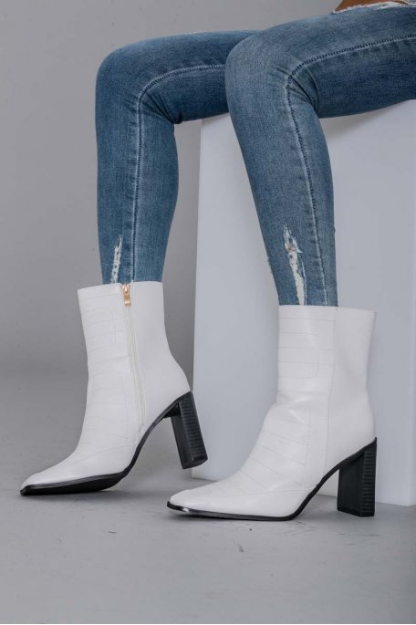 Bottines à talon blanche