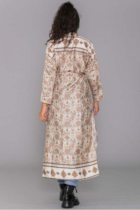 Kimono motif baroque beige