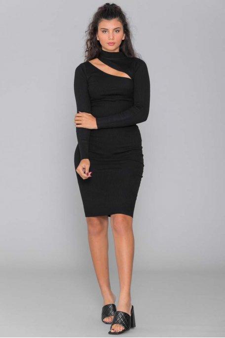 Ensemble jupe côtelé noir