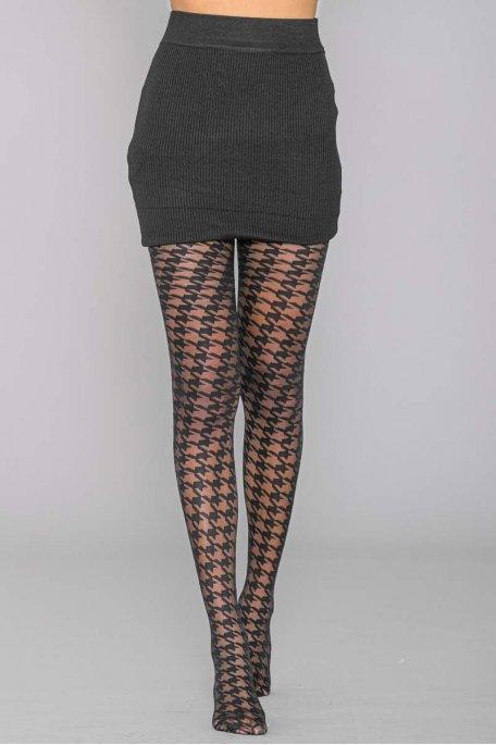 Collant motif noire