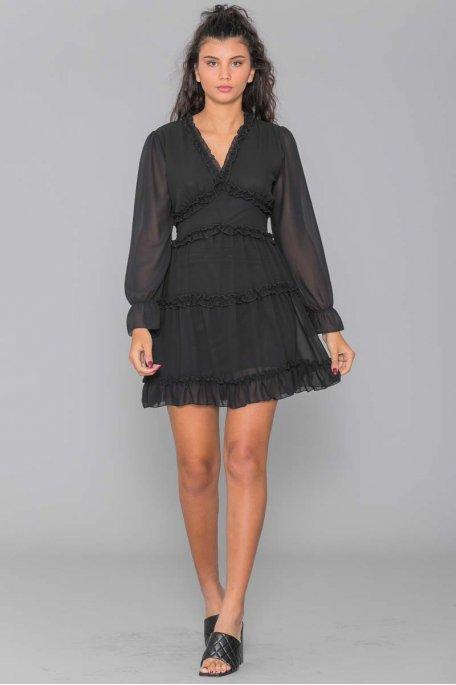 Robe mousseline noir