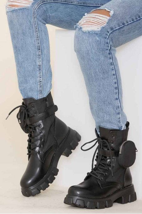 Bottines monolith noir