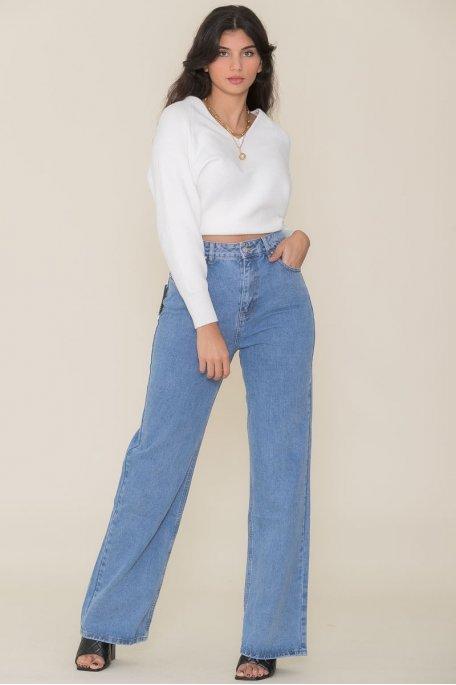 Jean large bleu