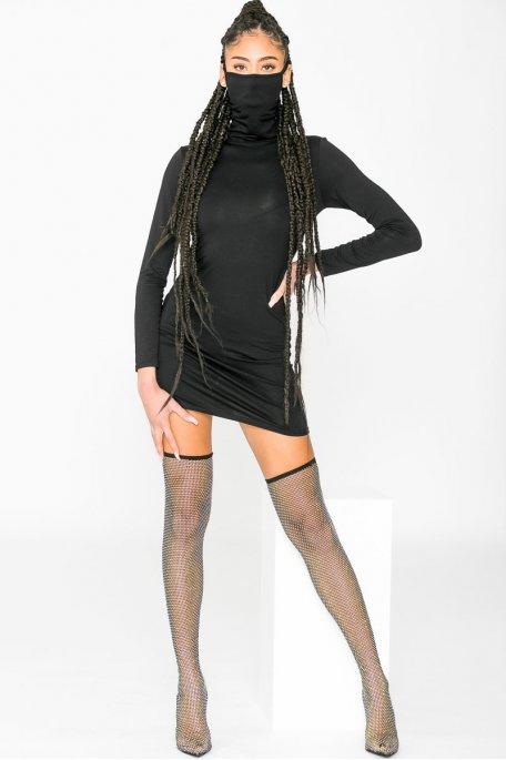 Robe basique masque intégré noir