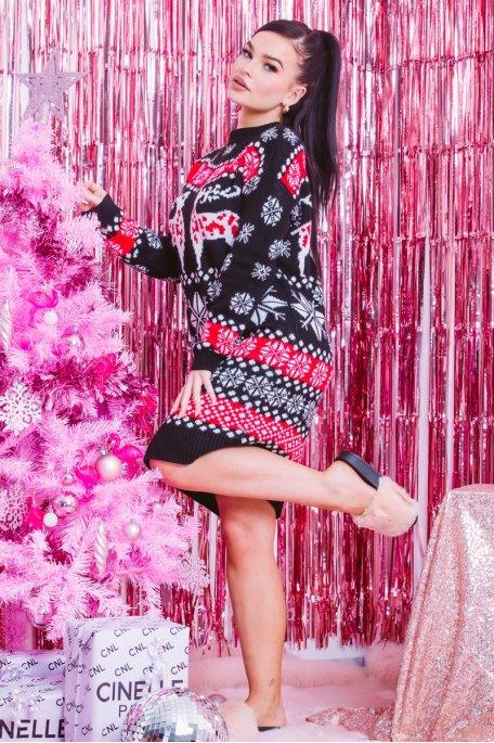 Robe pull Noël noir