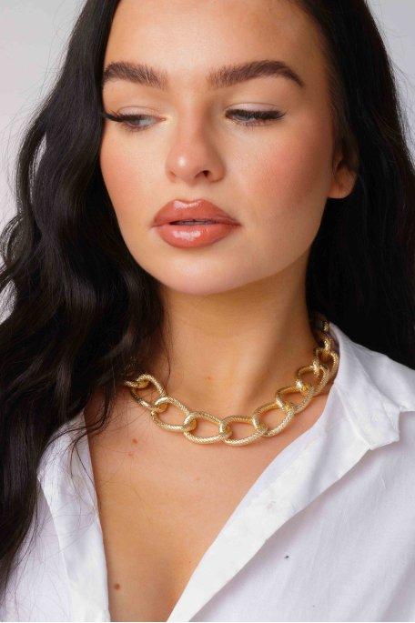Collier chaîne épaisse doré