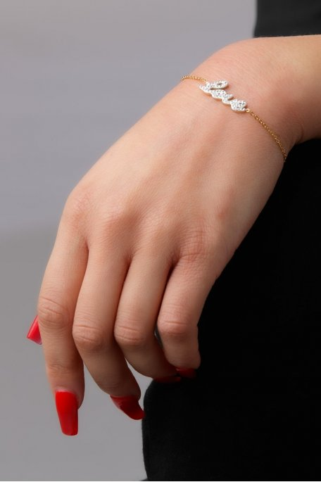 Bracelet inscription Love doré