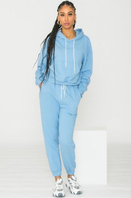 Ensemble sweat pantalon bleu