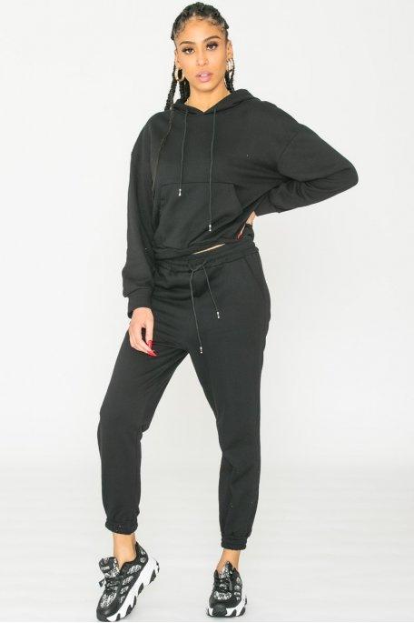 Ensemble sweat pantalon noir