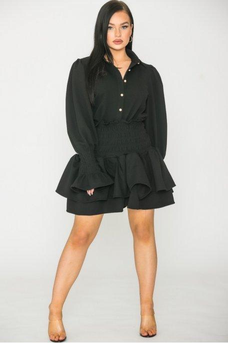 Ensemble texturé jupe noir