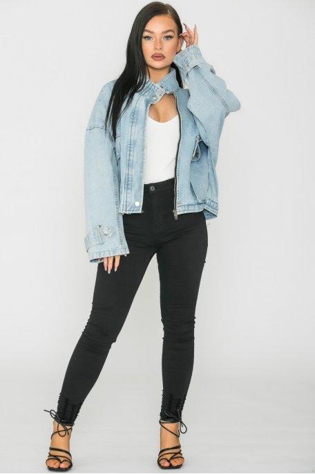 Veste en jean courte Good times bleu