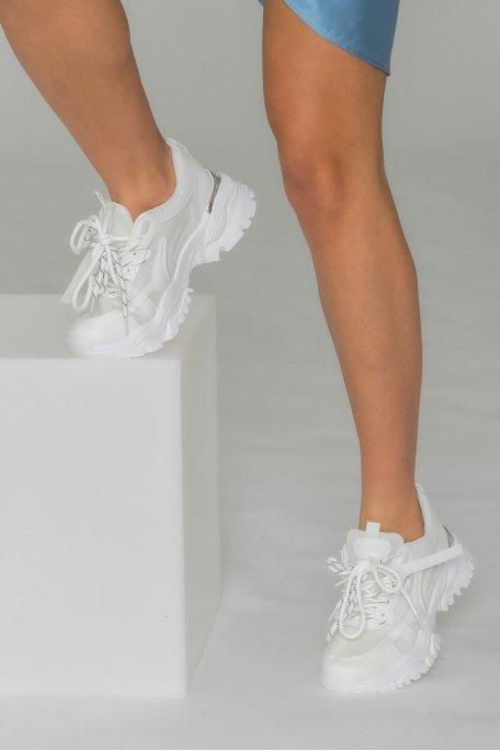 Baskets semelle épaisse blanc