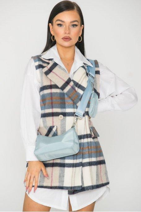 Mini sac bandoulière bleu
