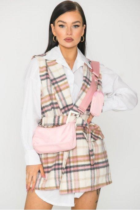 Mini sac bandoulière rose