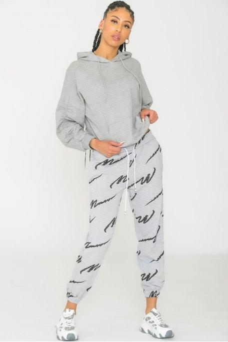 Jogging à motif gris