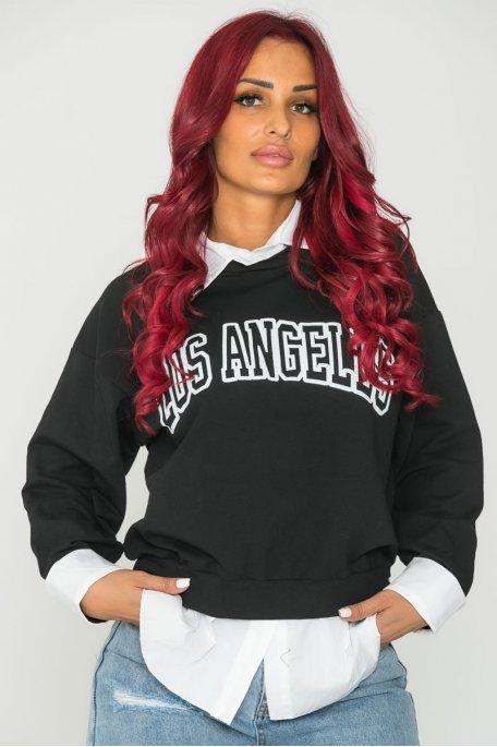 Sweat chemise Los Angeles noir