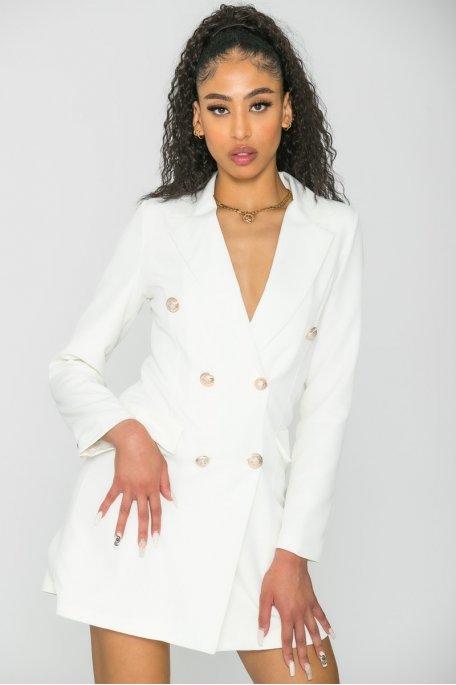 Robe blazer style officier blanc