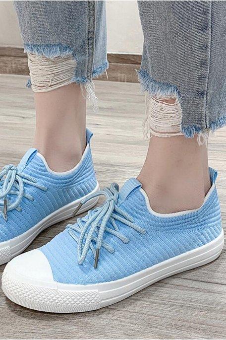 Baskets en toile basse bleu
