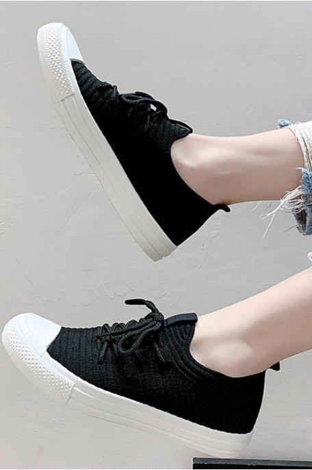 Baskets en toile basse noir