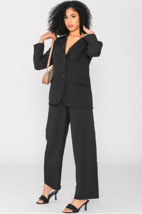 Ensemble veste pantalon tailleur oversize noir