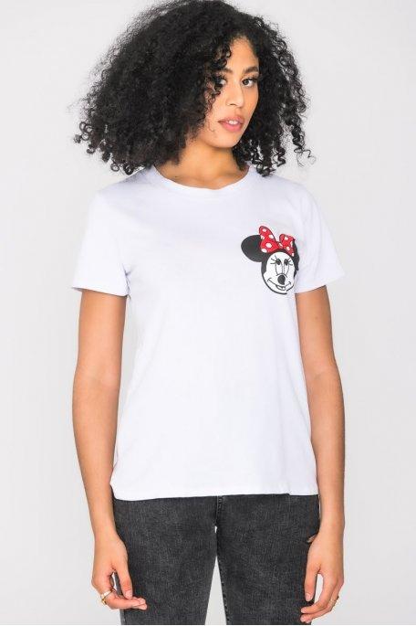 Tee-shirt imprimé souris blanc