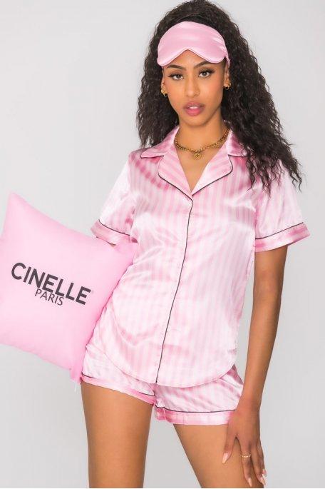 Ensemble pyjama rayé shorty
