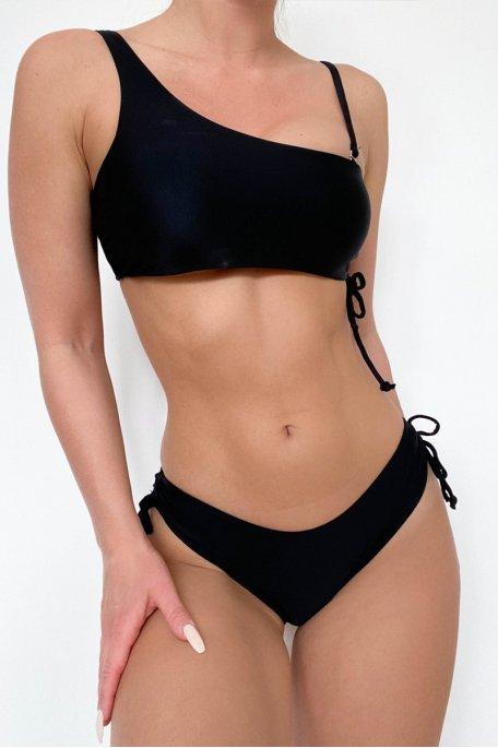 Bikini froncé noir