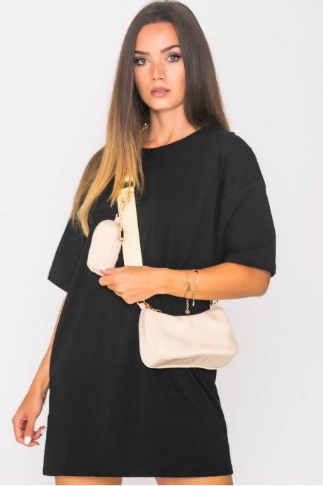 Robe tee-shirt oversize noir