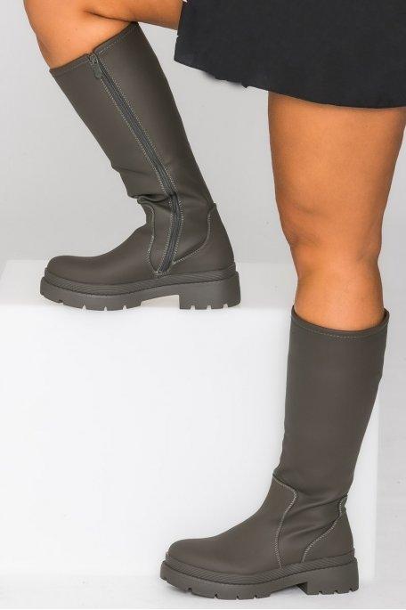 Bottes simili uni kaki