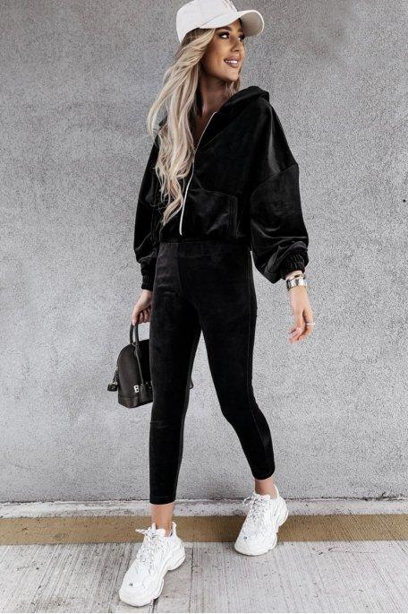 Ensemble en velours veste pantalon noir