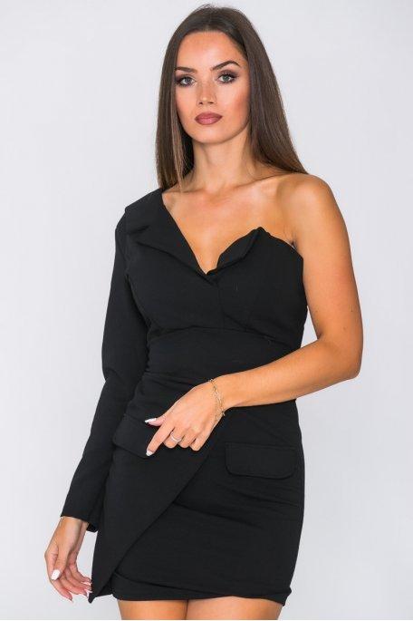 Robe blazer asymétrique noir
