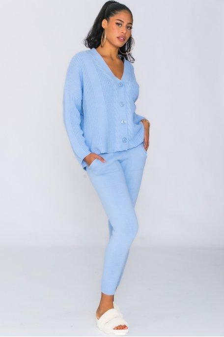Ensemble gilet pantalon bleu