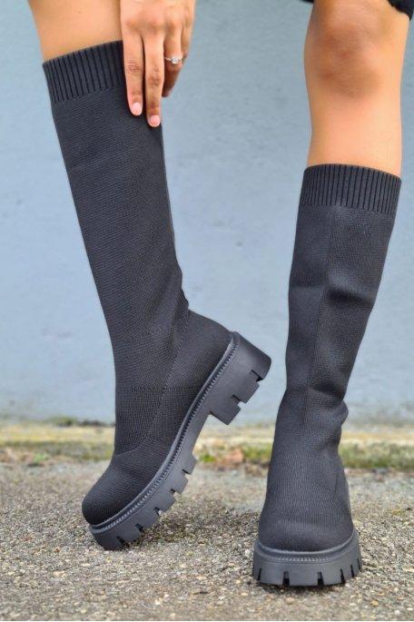 Bottes chaussettes noir